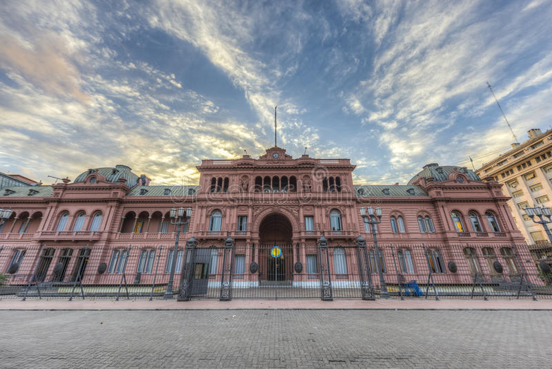 Casa Rosada building in Buenos Aires, Argentina. Casa Rosada building facade located at Mayo square in Buenos Aires, Argentina royalty free stock image
