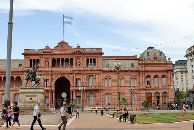 Casa Rosada en Buenos Aires foto de archivo libre de regalías