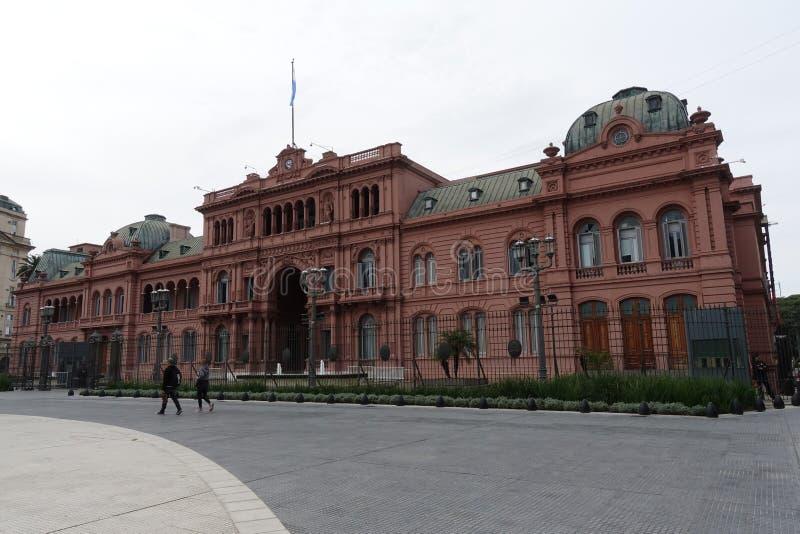 Casa Rosada o la Camera rosa a Buenos Aires fotografia stock libera da diritti