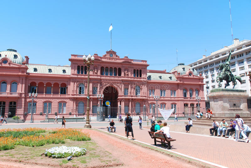 Casa Rosada (pink house). BUENOS AIRES ARGENTINE NOVEMBER 25: Casa Rosada (pink house) Buenos Aires Argentina.La Casa Rosada is the official seat of the royalty free stock photos
