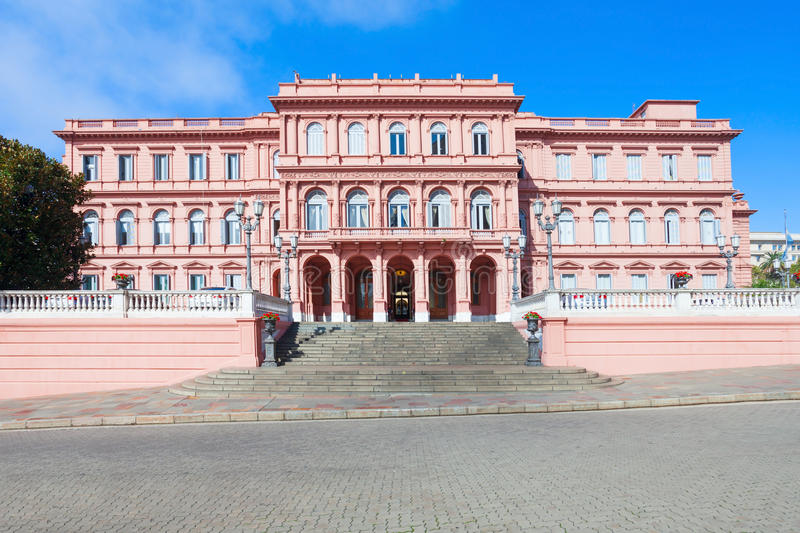 Casa Rosada Pink House. La Casa Rosada or The Pink House is the executive mansion and office of the President of Argentina, located in Buenos Aires, Argentina royalty free stock image