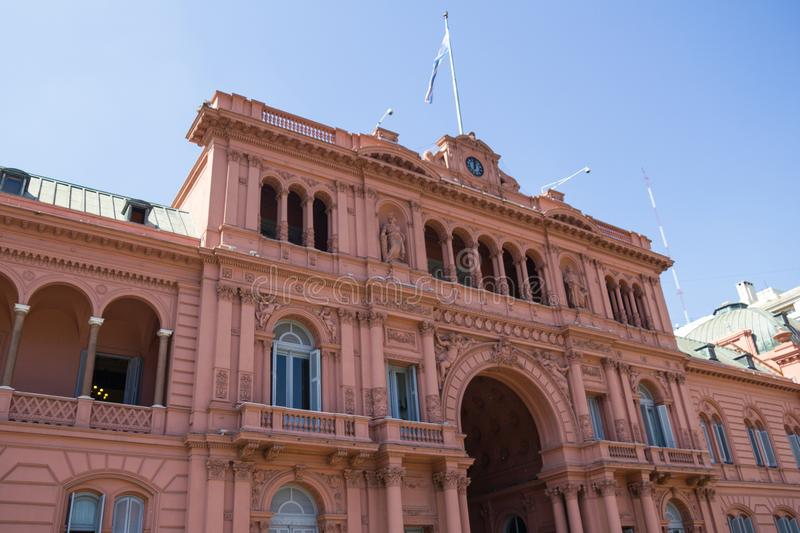 Casa Rosada Pink House Presidential Palace of Argentina. May Square, Buenos Aires. stock photography