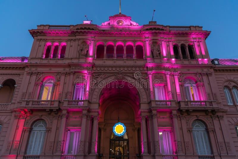 Casa Rosada (Różowy dom) obraz stock