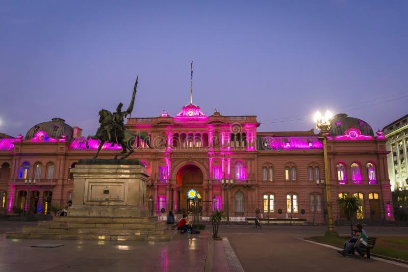 Casa Rosada, regeringhus, Buenos Aires, Argentina royaltyfria foton