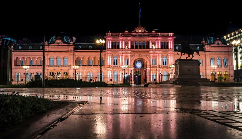 Casa Rosada`s Pink House, City of Buenos Aires, Argentina. Casa Rosada`s Pink House is Argentina`s government office stock image