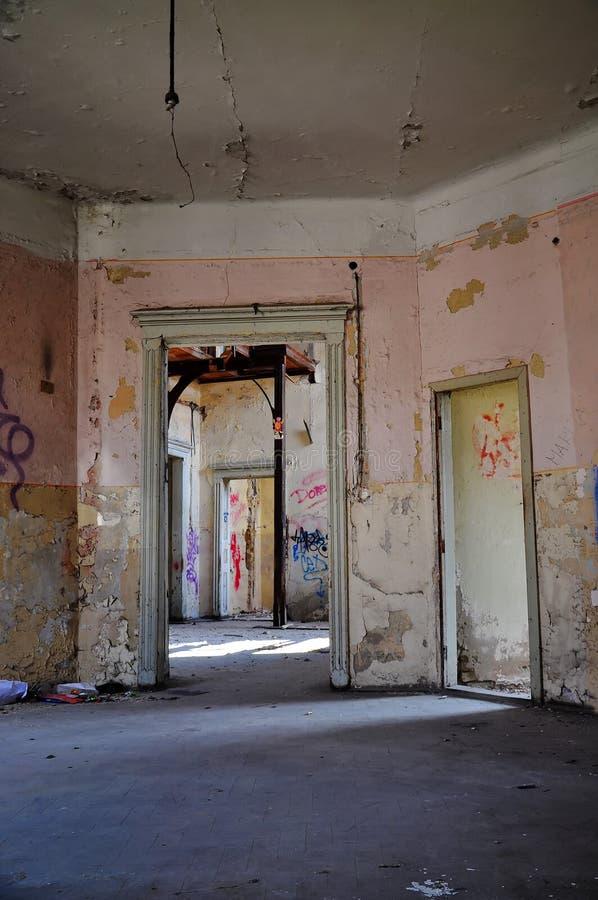Casa rovinata fotografie stock