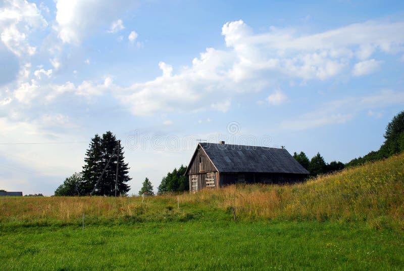 Casa rural vazia imagem de stock