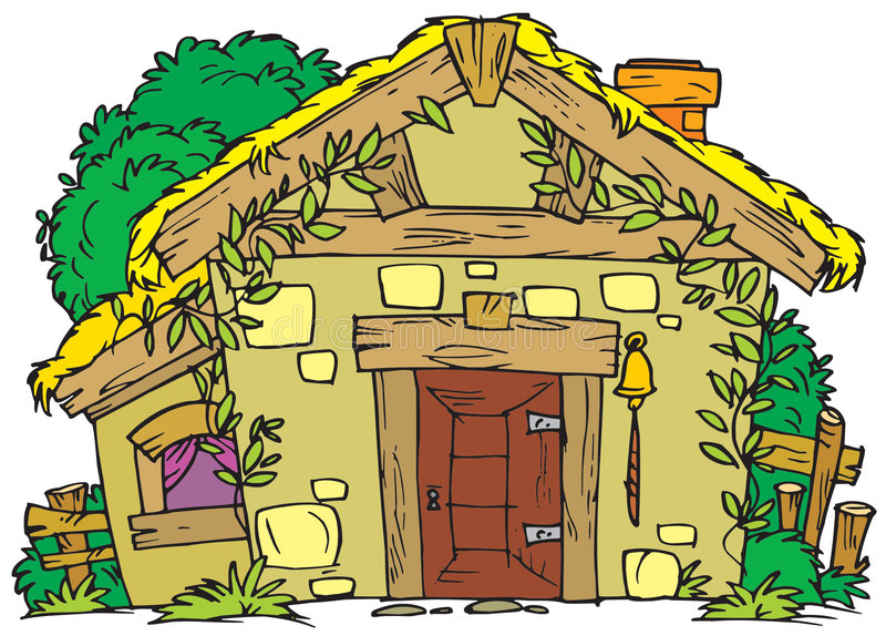 Casa rural velha ilustração do vetor