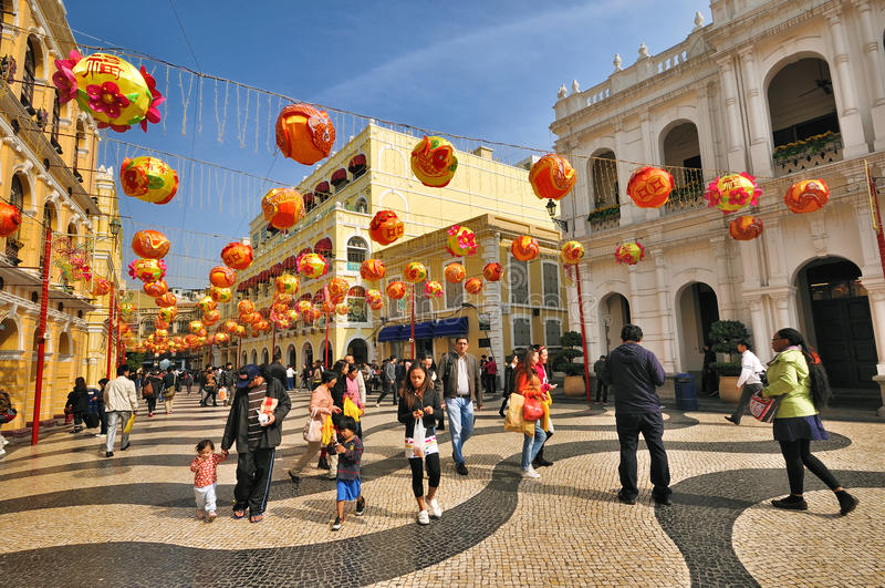 Casa santa de la misericordia de Macau imágenes de archivo libres de regalías