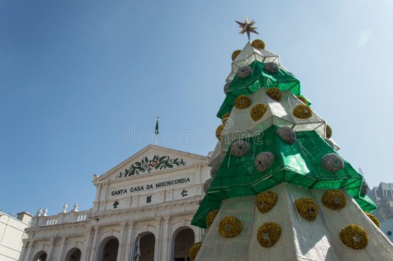 A casa santamente da construção da mercê em Macau imagem de stock