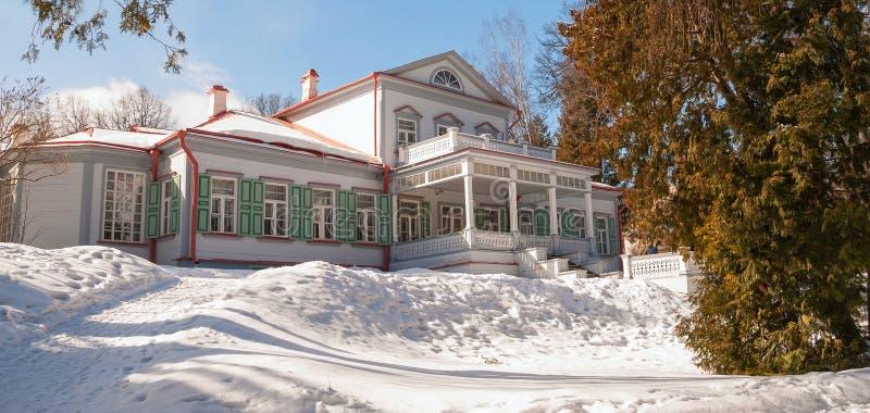 Casa señorial de Abramtsevo foto de archivo