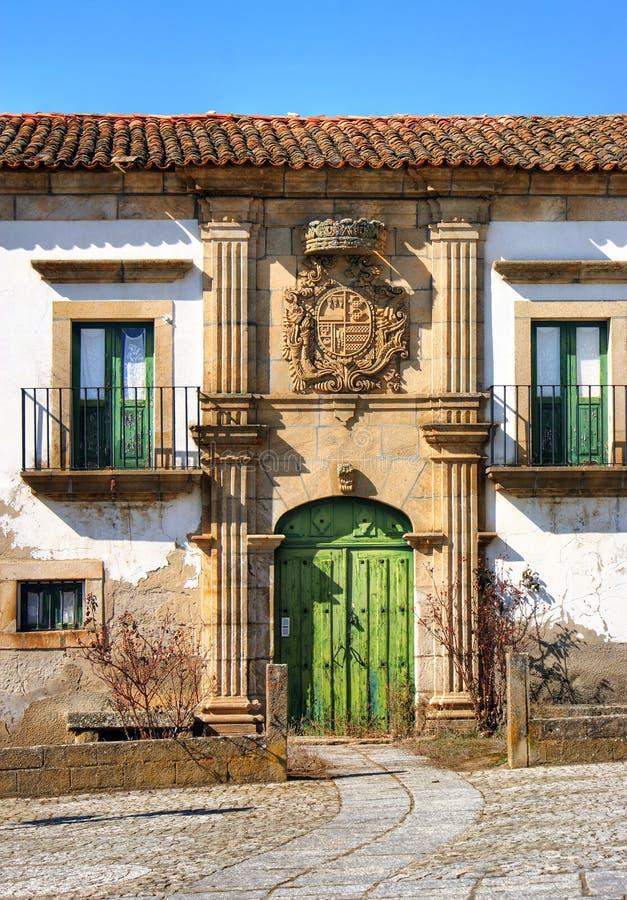 Casa señorial de Saraivas en Vilar Torpim imagen de archivo