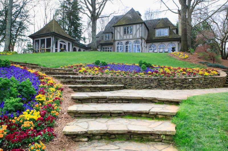 Casa señorial Georgia de los jardines de Gibbs fotos de archivo libres de regalías