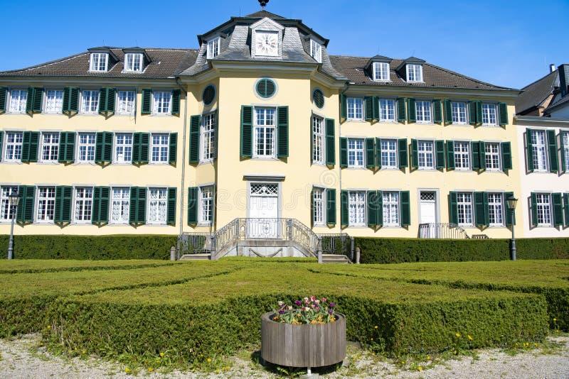 Casa senhorial da fábrica Cromford de matéria têxtil em Ratingen, Alemanha foto de stock