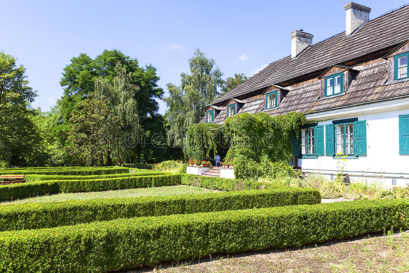 Casa senhorial polonesa do século XVIII, museu ao ar livre, Janowiec, Polônia fotografia de stock royalty free