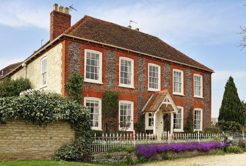 Casa senhorial rural inglesa fotografia de stock royalty free