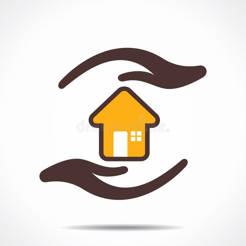 Casa sicura e sicura illustrazione vettoriale