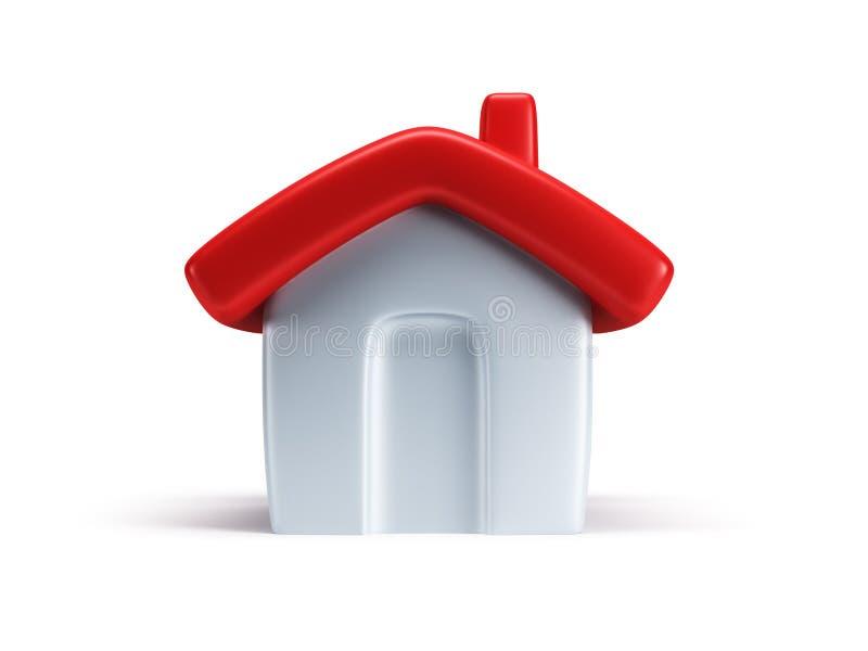 A casa simbólica pequena 3d rende ilustração royalty free