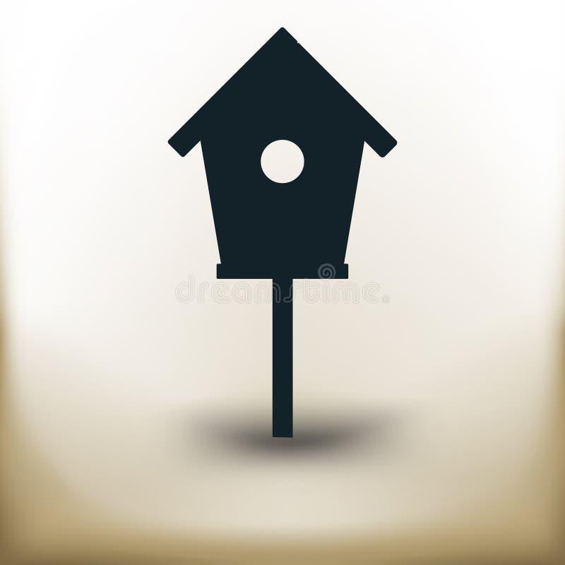 Casa simples do pássaro ilustração royalty free