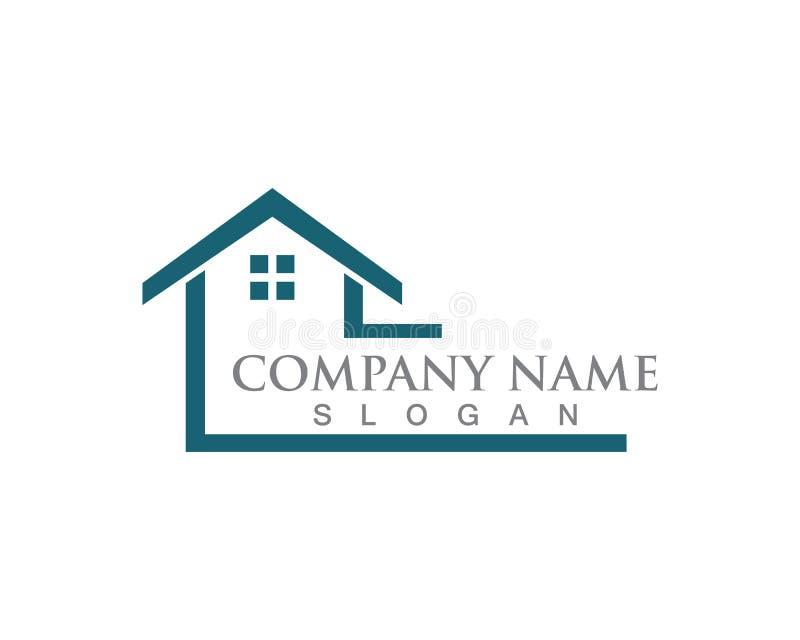 Casa simples Real Estate Logo Icons da casa ilustração do vetor