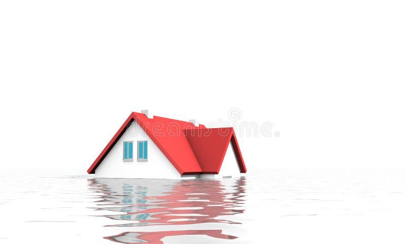 Casa sob a água imagens de stock royalty free