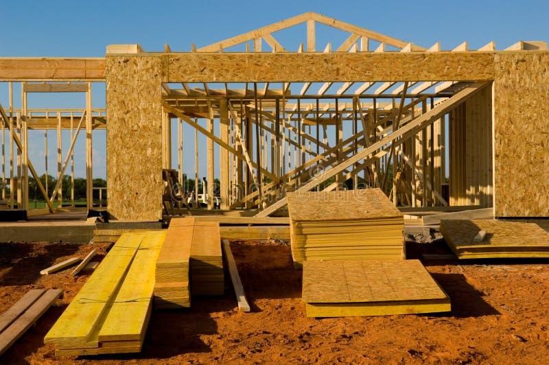 Casa sob a construção imagem de stock