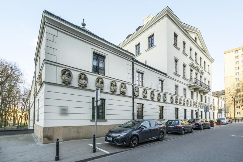 Casa sob os reis em Vars?via foto de stock royalty free