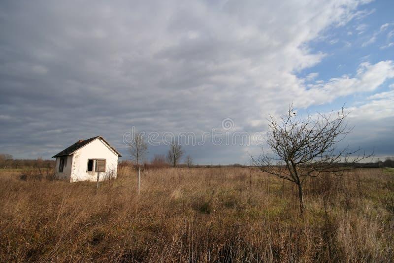 Casa sola fotografia stock libera da diritti