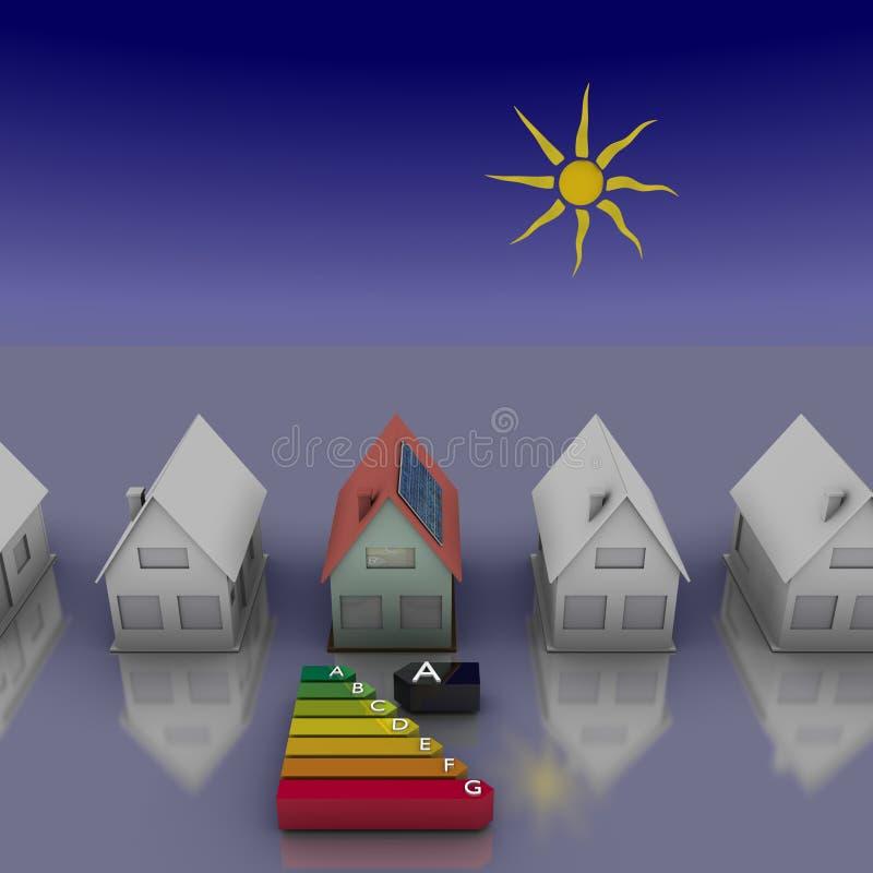 Download Casa solar ilustração stock. Ilustração de verde, energia - 16866594