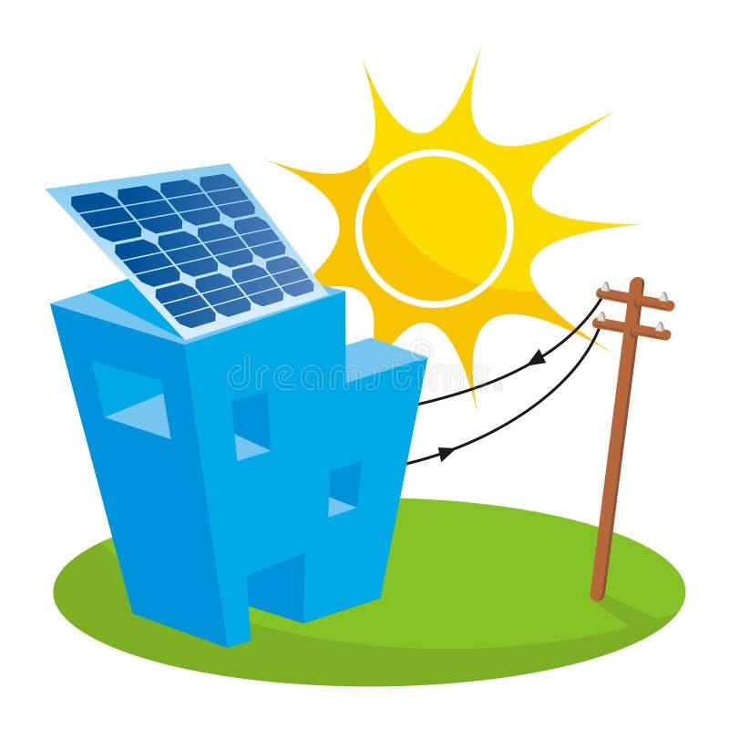 Casa solar stock de ilustración