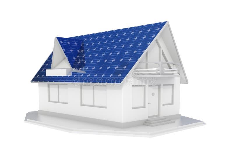 Casa solar branca ilustração do vetor