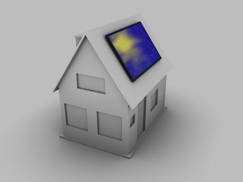 Casa solare illustrazione vettoriale