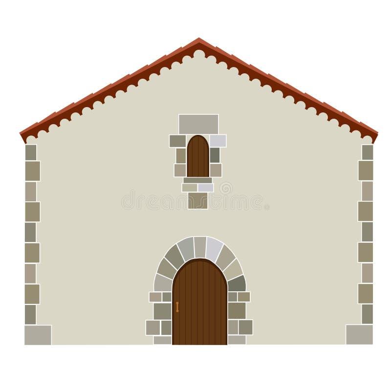 Casa spagnola illustrazione di stock illustrazione di for Case di architettura spagnola