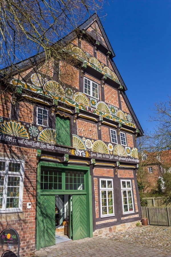Casa storica Ackerburgerhaus nel centro di Verden immagini stock libere da diritti