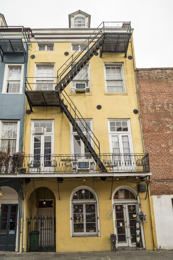 Casa storica nel quartiere francese di New Orleans fotografia stock libera da diritti