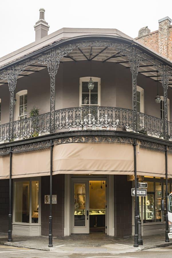 Casa storica nel quartiere francese di New Orleans immagine stock libera da diritti