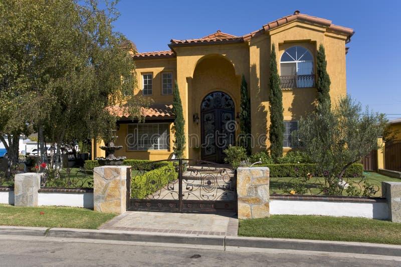 Casa su ordinazione in spiaggia di Newport, CA fotografie stock libere da diritti