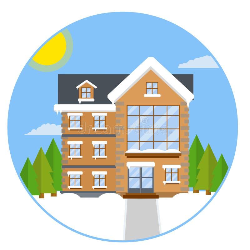 Casa suburbana r royalty illustrazione gratis