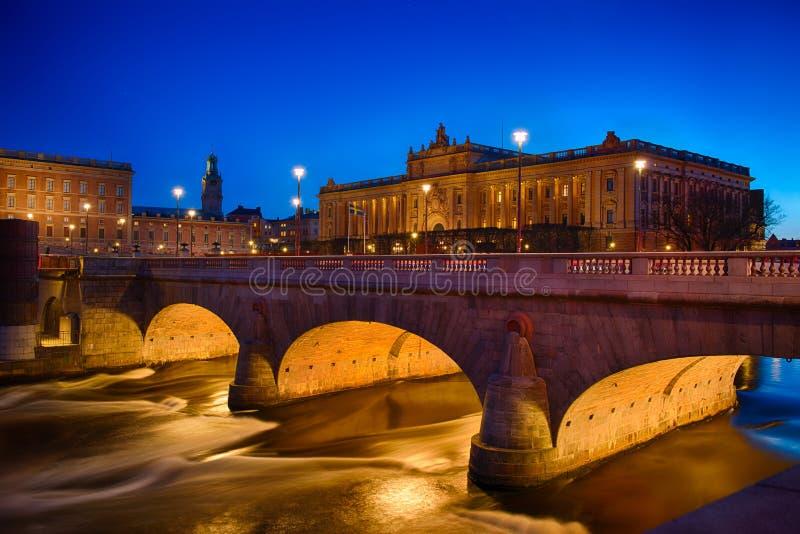 Casa sueca del parlamento en Estocolmo imagen de archivo libre de regalías