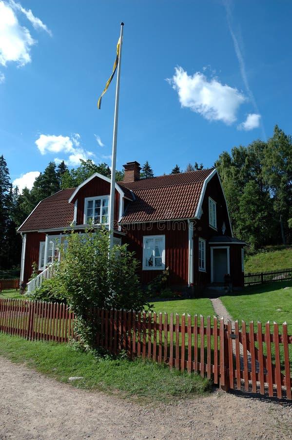Casa sueca en Astrid Lindgrens Katthult fotos de archivo libres de regalías