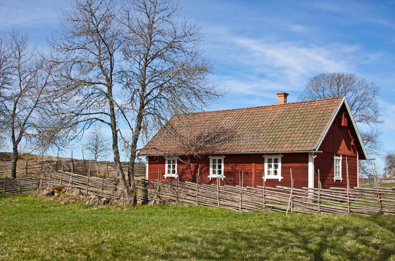 Casa sueca idílica. imágenes de archivo libres de regalías