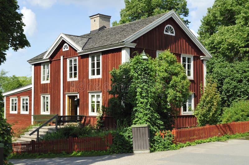 Casa sueca vieja fotografía de archivo