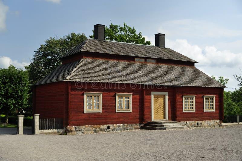 Casa sueca vieja imagen de archivo