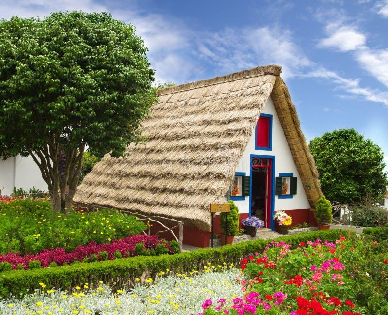 Casa típica de la floristería del souvernir, Madeira imagen de archivo