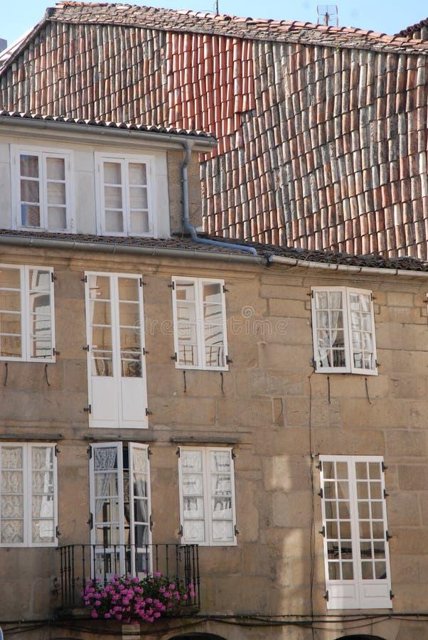 Casa típica de Santiago de Compostela imagen de archivo libre de regalías