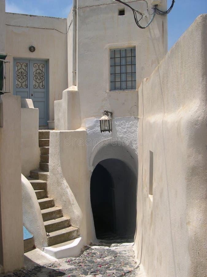 Casa típica del santorini imagenes de archivo