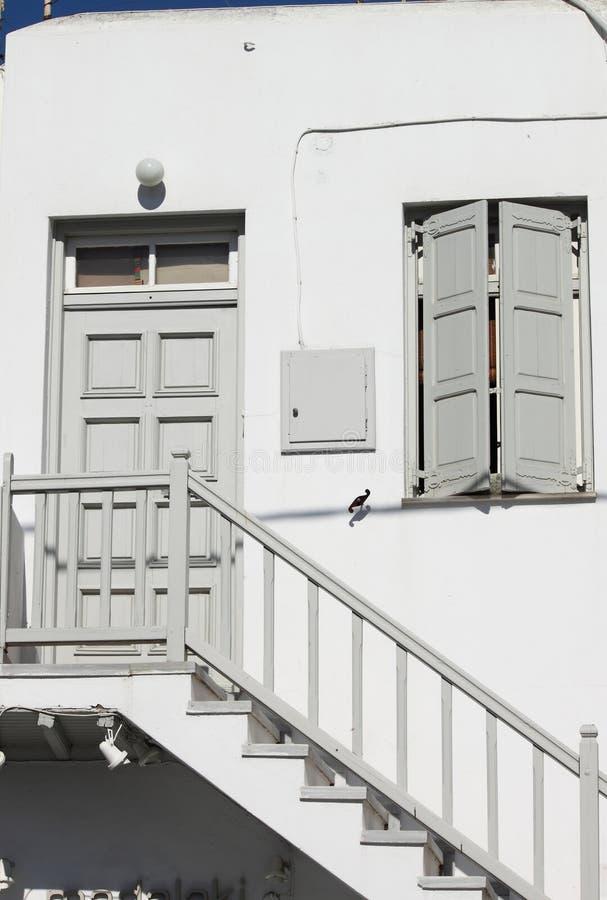 Casa típica em Mykonos imagens de stock royalty free