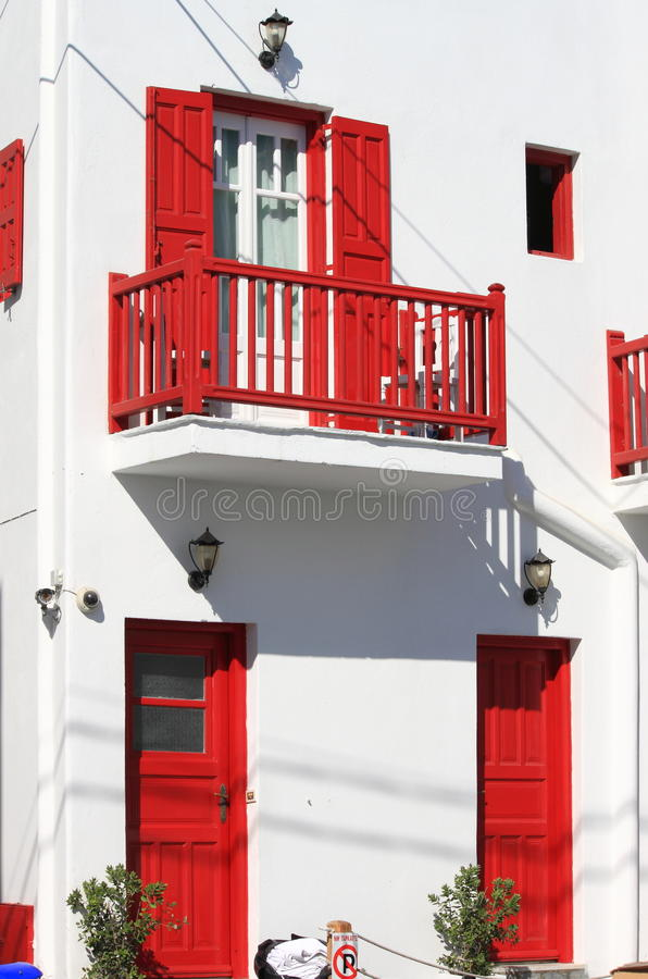 Casa típica em Mykonos fotos de stock royalty free