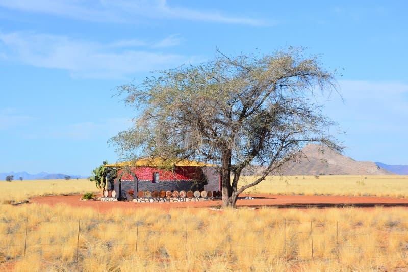 Casa típica en el parque nacional de Namib-Naukluft imagen de archivo libre de regalías