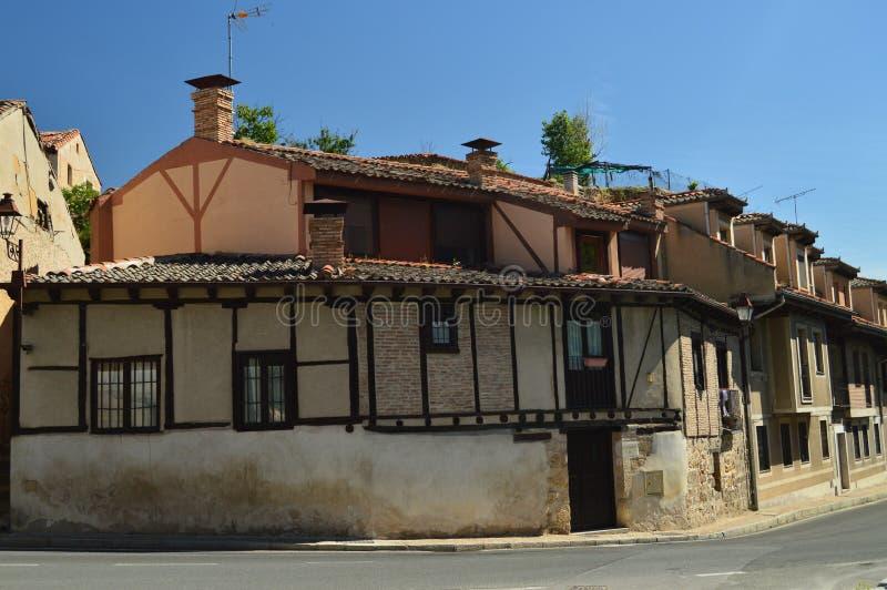 Casa típica medieval hermosa en Segovia Arquitectura, viaje, historia imagen de archivo libre de regalías